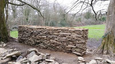 Construction murs Bois Hue - Nantes Métropole Aménagement - janvier 2016