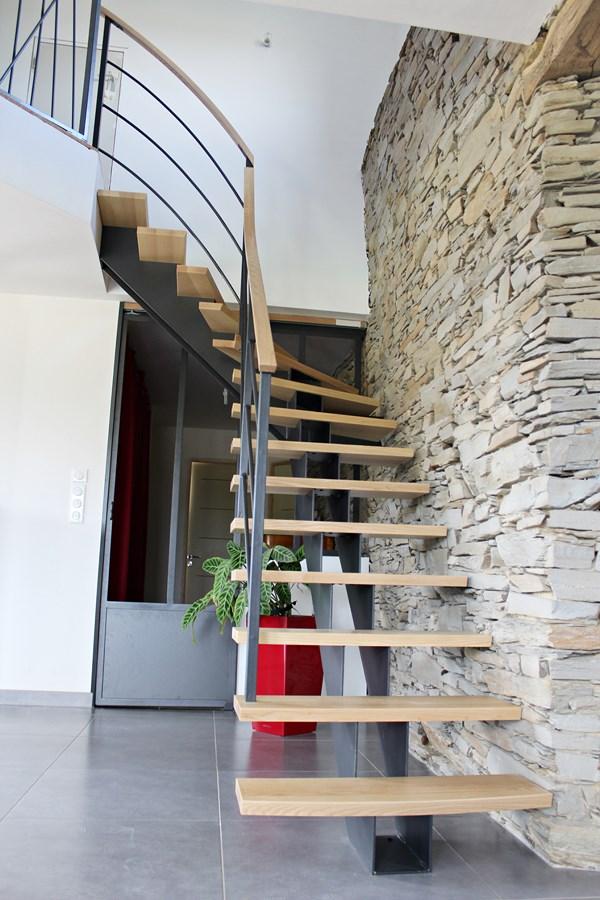 Beautiful Amenagement Escalier Interieur Contemporary - Yourmentor ...